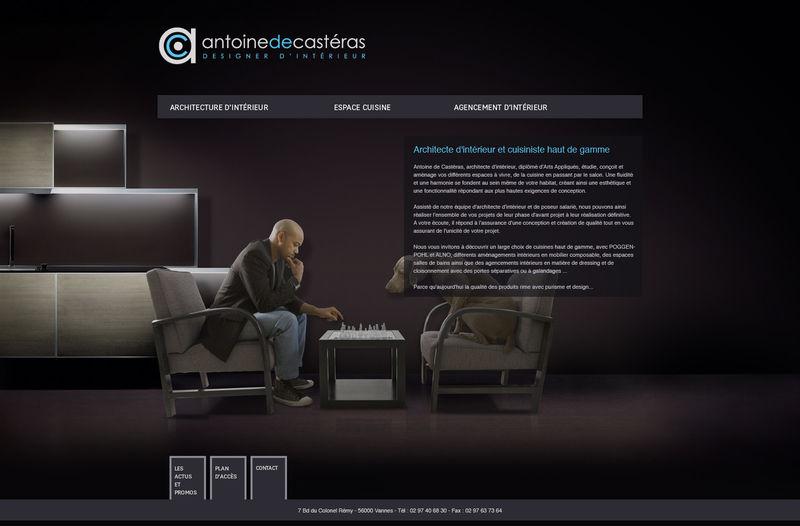 design et site pour designer d\'intérieur